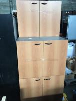 Polcos szekrény, használt irodabútor