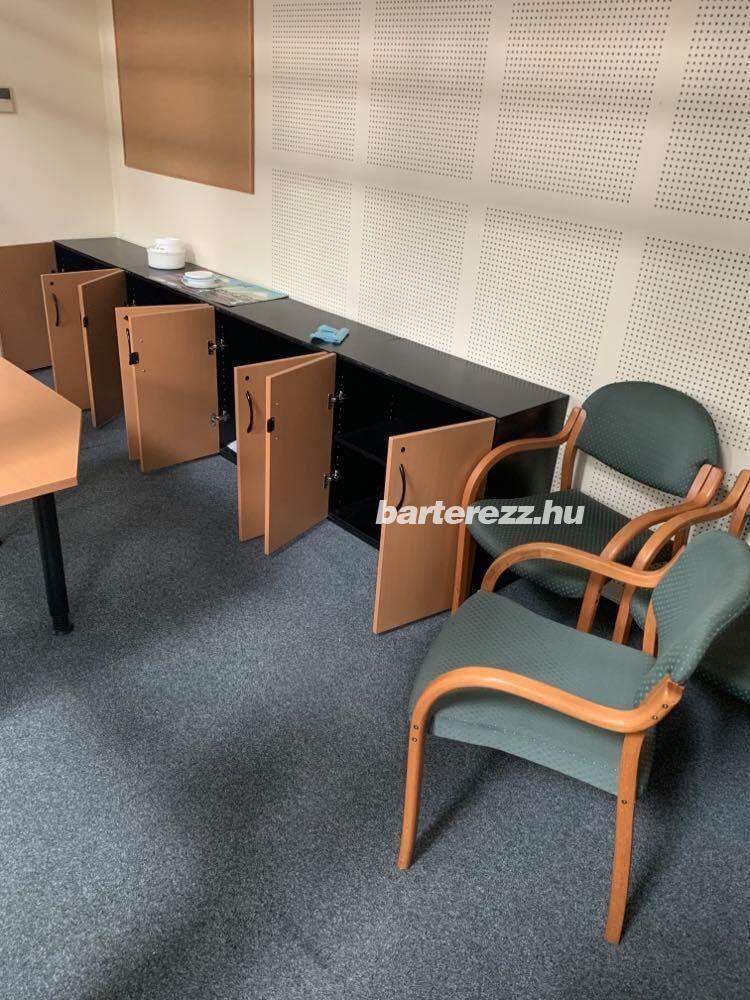 70 cm magas szekrények, használt irodabútor