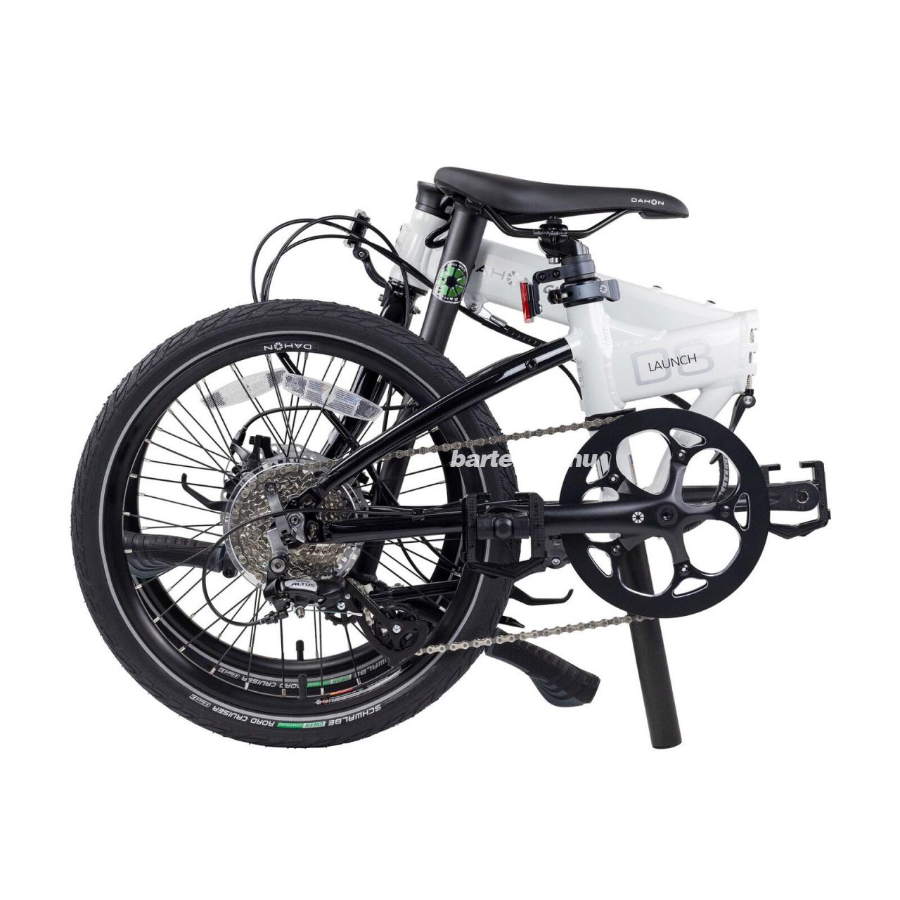 Dahon Launch D8 Folding Bike White and Black