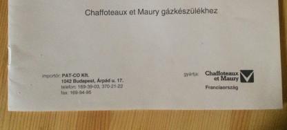 Cirko gazkazan 24-32 Kwt MŰKÖDŐ Chaffoteaux et Maury