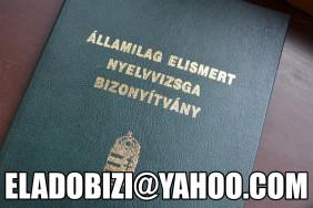 ✅ Eladó Diploma Nyelvvizsga Érettségi OKJ Bizonyítvány