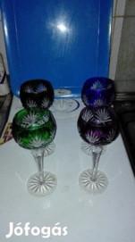Eladó különféle parádi kristály poharak