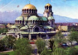 Postatiszta képeslap a szófiai Alexander székesegyházról
