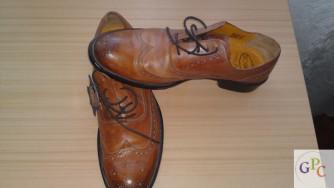 Filograna világos barna olasz bőrcipő eladó 15000Ft-rt
