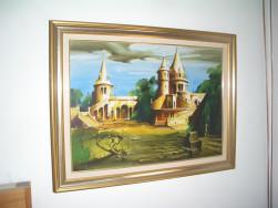 Fassel  L'ousa Ferenc kortárs olaj festmény
