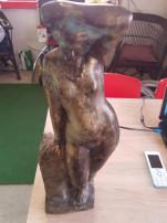 Medgyessy szobor csiszolás,polírozás