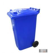 Külső hulladéktároló, szemetes kuka, sárga színben, 240 literes, műanyag