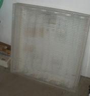 Használt négyzet alakú fénycső armatúra 6 darab fénycső való bele - Hódmezővásárhely