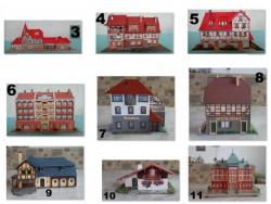 H0 TT Épület ház modellvasút vasút makett állomás több darab is van (17db)