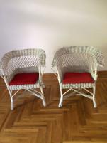 Fonott 2 db. fotel piros parnakkal