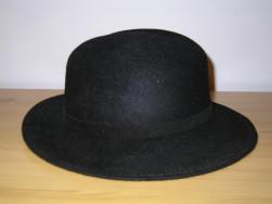 Férfi fekete kalap (uj, Franciabol hoztam)