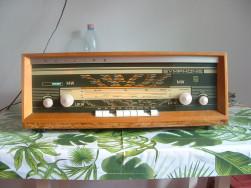 Philips Symphonie működő csöves 2 hangszórós rádió használatban van FM sávon - Hódmezővásárhely