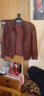 Válódi férfi bőr dzseki.  XL