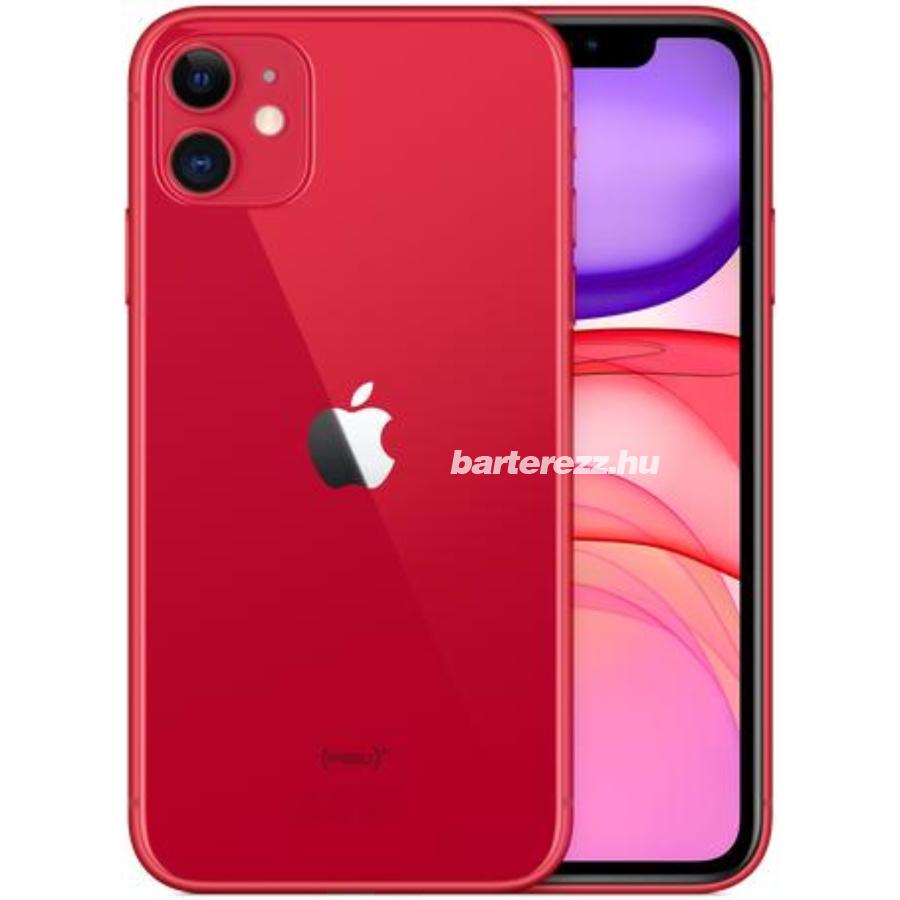 Apple iPhone 11 64GB Mobiltelefon, Piros