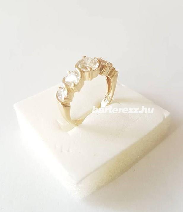 Gyűrű 14K cirkónköves