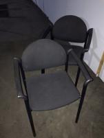 Rakásolható fekete szövet szék