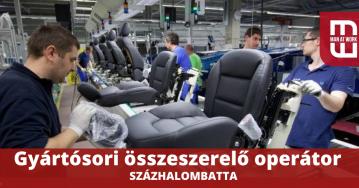 SZÁZHALOMBATTÁRA KERESÜNK GYÁRTÓSORI ÖSSZESZERELŐ OPERÁTORT!