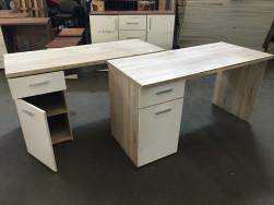 Íróasztal fehér ajtóval, használt irodabútor