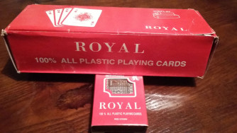 52 db-os plasztik póker kártya